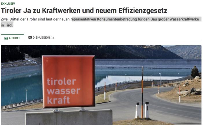 Screen-Shot Tiroler Tageszeitung, online-Ausgabe vom 6. 12. 14