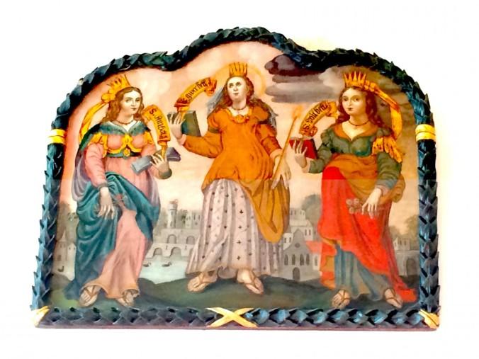 Anbett, Gwilbett, Borbett als Tafelmalerei in der Kirche von Obsaurs