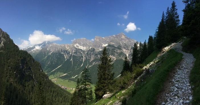 Der wunderschöne Blick während des Aufstieges nach St. Magdealena