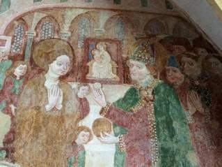 Magdalena erhält die Kommunion vom Bischof von Aix en Provence