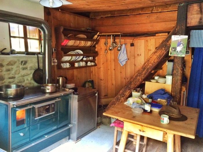 Die Almküche auf Helga's Alm