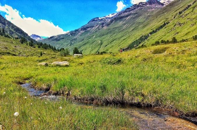 Die wunderbar-mystische Landschaft des hintersten Ötztales.