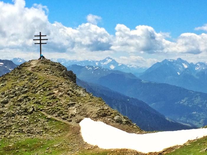 Das Wetterkreuz, immerhin knapp 2.600 m hoch.