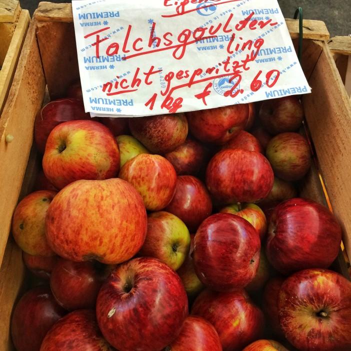 So schauen wohlschmeckende Äpfel aus.