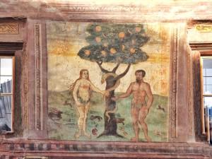 Adam und Eva, eben noch im Paradies...