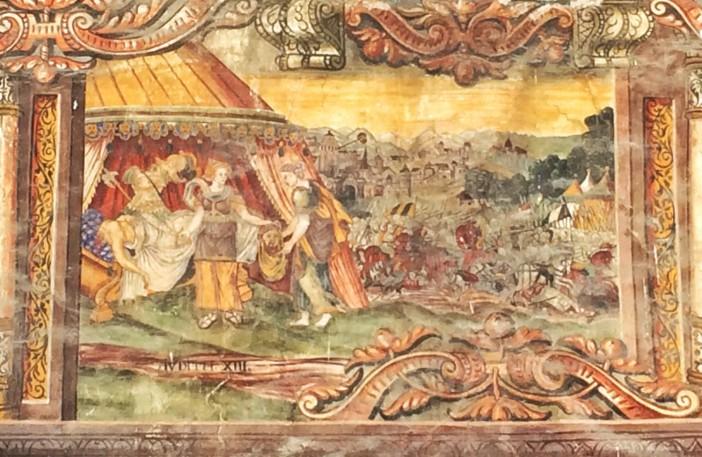 Die blutige Darstellung der Judith mit dem Kopf von Holofernes. Kopfabschneiden war offenbar im Nahen Osten schon immer beliebt...