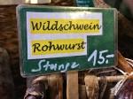 Wildschweinwurst Speckladele Innsbruck