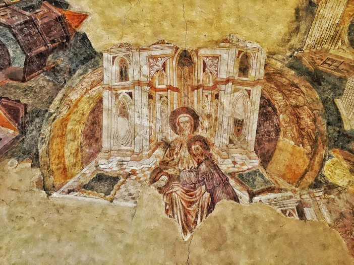 Teil des Chorfreskos in der Laurentiuskirche