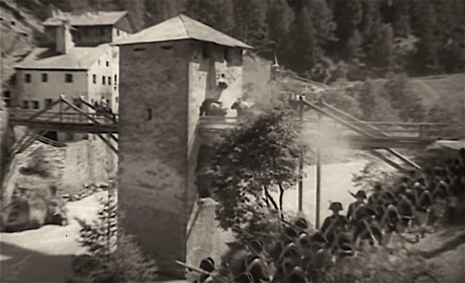 """Ausschnitt aus dem Film """"Der Rebell"""" von Luis Trenker, der 1932 in Finstermünz gedreht wurde."""