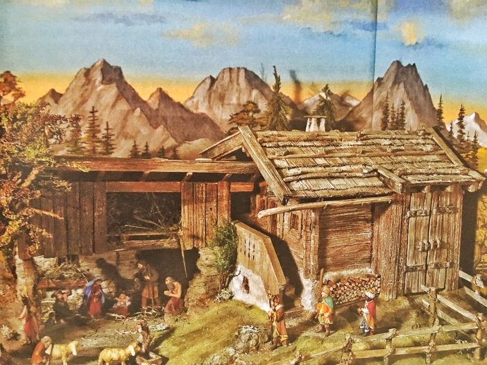 Im Buch ebenfalls bis ins kleinste Detail beschrieben: der Bau einer Tiroler Krippe.