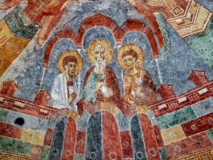 Fresko mit Philipp, Jonas und Jakob