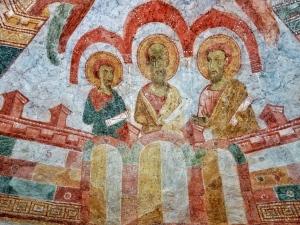 Fresko Himmlisches Jerusalem St. Nikolaus bei Matrei