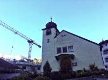 Die neue Kirche in Hintertux. Ohne Friedhof, die Toten werden in Lanersbach begraben.