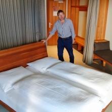 Das Bett kann in die individuell beste Schlafrichtung gedreht werden.