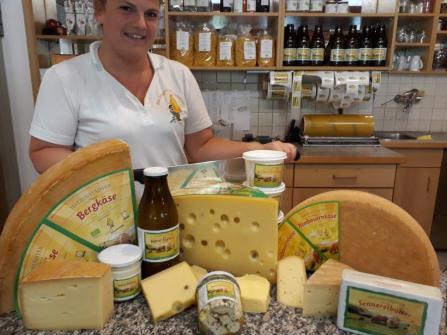 Das Käseangebot von Hatzenstädt. Bild: Sennerei Hatzenstädt