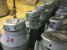 Die Milch von den BIO-Berghöfen in der Sennerei