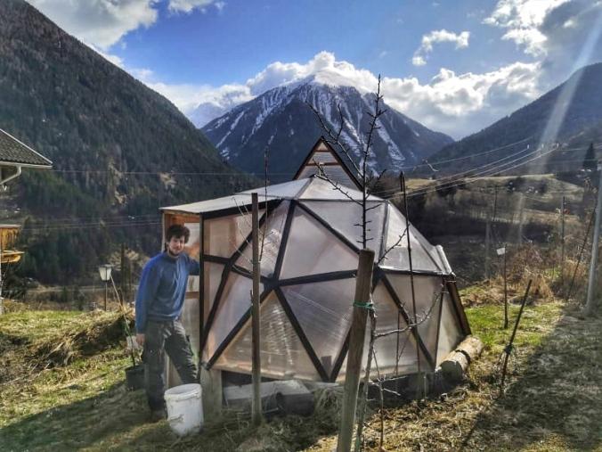 Der Prototyp des Geo-Domes in Stilfs
