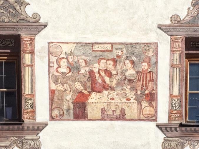 Fresko Die Heimkehr des verlorenen Sohnes am Gemeindehaus