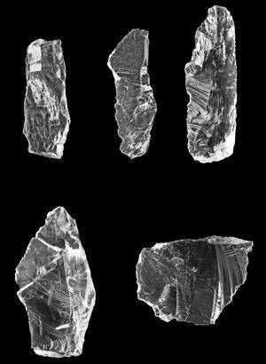 Bergkristall-Abschläge
