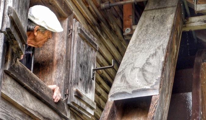 Hans Glatzl in der Mühle