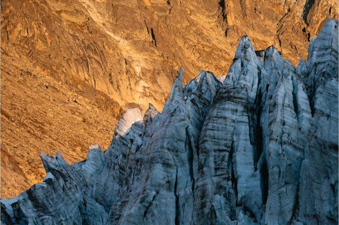 Argentièregletscher in der Mont Blanc Gruppe ©B.Ritschel