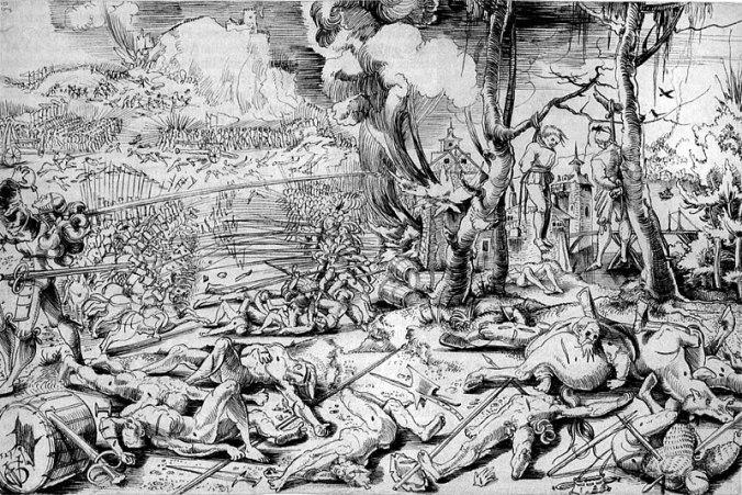 Schlachtszene Mittelalter