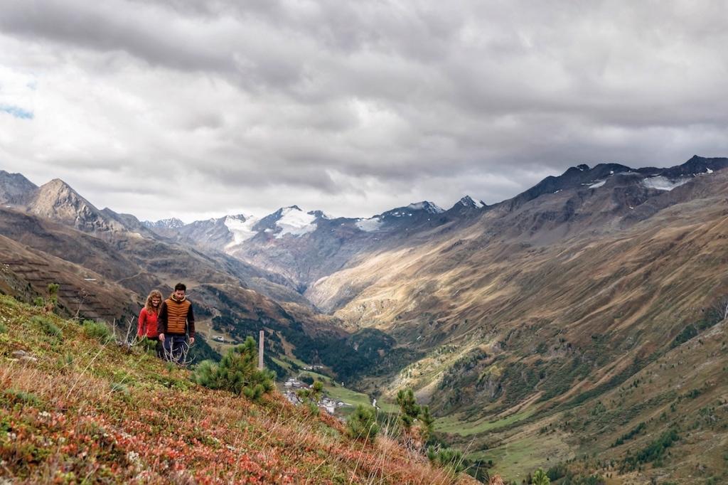Maria und Martin Grüner am Bergmahd in Obergurgl
